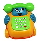 Blue Face And Hands Childrens Musical Toy Telephone