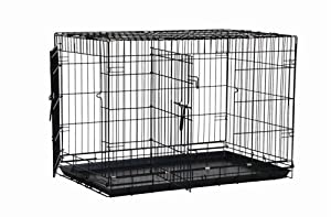 Precision Pet Two-Door Great Crate, Black from Precision Pet