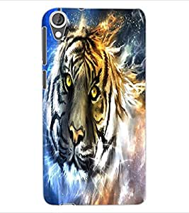 ColourCraft Scary Tiger Look Design Back Case Cover for HTC DESIRE 820