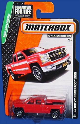 Matchbox MBX Explorers '14 Chevy Silverado 1500 Red #29/120 - 1