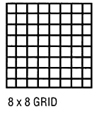 Alvin CP10202528 cuadr-cula Vitela 8x8 24x36 100sht