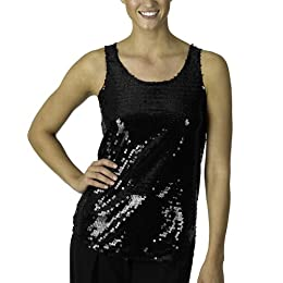 Product Image Isaac Mizrahi for Target® Sequin Tank - Ebony