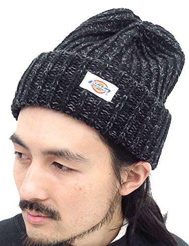 (ディッキーズ) Dickies ニット帽 メンズ ワッチキャップ 冬 アクリルニット リブ編み 4color Free ブラック