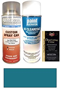 1988 Lincoln All Models Dark Shadow Blue Metallic 7K/6199 Touch Up Paint Spray Can Kit - Original Factory OEM Automotive Paint - Color Match Guaranteed
