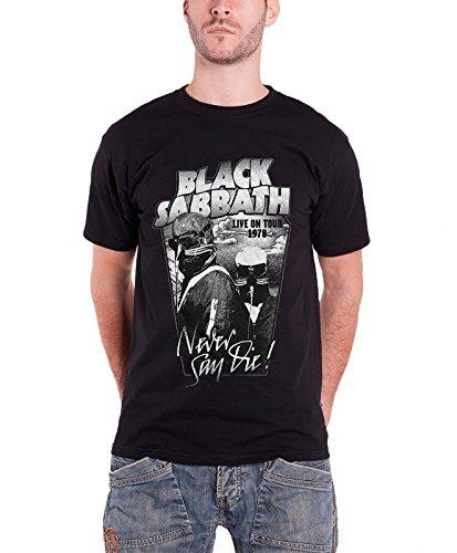 Black Sabbath ブラック・サバス Never Say Die live on tour 1978 公式 メンズ ブラック Tシャツ