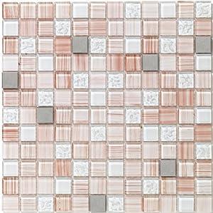 peel stick tiles 15 ft backsplash kit rose