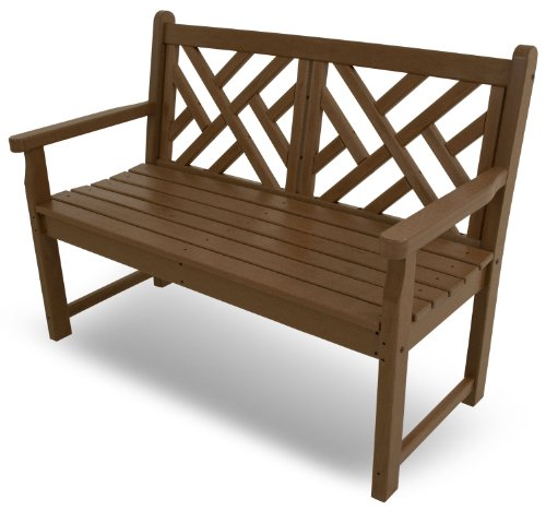 POLYWOOD CDB48TE Chippendale 48″ Bench, Teak