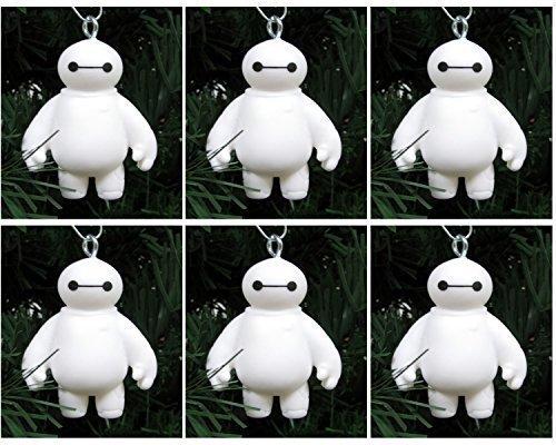 Big Hero 6 ~ Six Piece Baymax Healthcare Companion Robot Christmas Tree Ornaments Featuring 6 Baymax Ornaments (Robot Big Hero 6 compare prices)