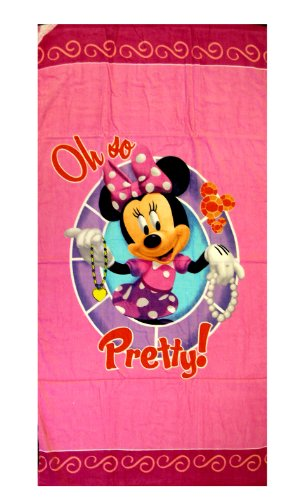 Disney Minnie Mouse Towel - Oh So Pretty (Bath / Beach Towel)