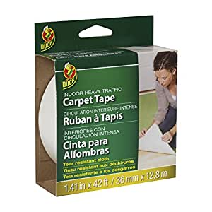 Duck Brand 442060 Indoor Heavy Traffic Carpet Tape, 1.41-Inch x 42 Feet, Single Roll