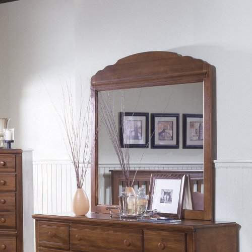 Carolina Furniture 316600 Crossroads Landscape Dresser Mirror In Brown Cherry front-960396