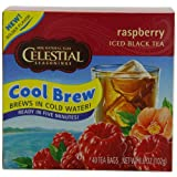 Celestial Seasonings Ice Cool Brew Iced Tea, Raspberry, 40-Count Tea Bags (Pack of 6)