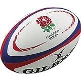 Gilbert Men's Replica International Rugby Ball - Red/Blue, Mini