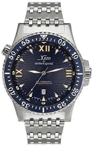 Xezo für United4: good Air Commando-Uhr (Automatik) , Schweizer Saphirglas, Citizen-Uhrwerk, 20 ATM. Serie