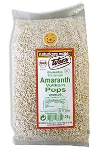 Werz Vollkorn-Amaranth gepufft ungesüßt, glutenfrei, 2er Pack (2 x 125 g Beutel) - Bio