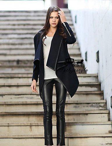 Donna Autunno Inverno nuova moda a manica lunga più allentato dimensioni rivestimento di polvere,grigio scuro,S