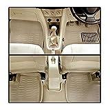 Beige 3D Car Foot Mat Floor Mat Car Mats and GLOW POINT LOGO Wooden Engraved Key Ring for Audi A4 all weather Floor Mats Waterproof Dustproof spil proof anti-slip skid Mats