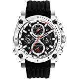 Bulova Precisionist Men's UHF Watch with Black Dial Analogue Display and Black Rubber Strap - 98B172