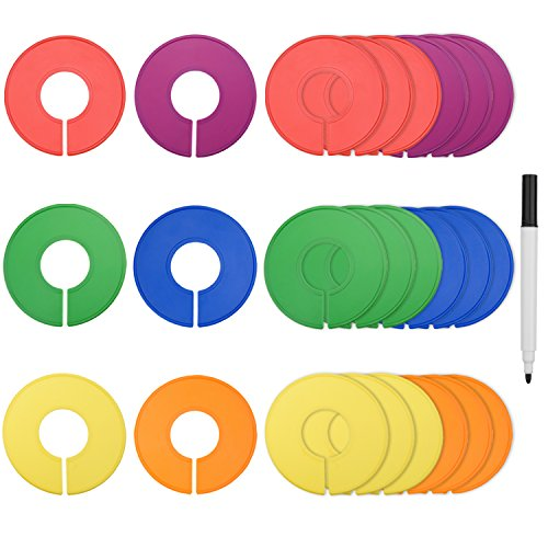 blulu-bunt-leer-schrank-grossenreiter-rund-kleidung-rack-ringscheiben-24-stuck-mit-1-filzstift