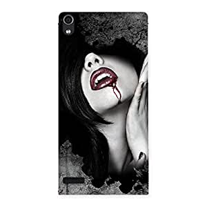 Wonder Lips Red Back Case Cover for Ascend P6