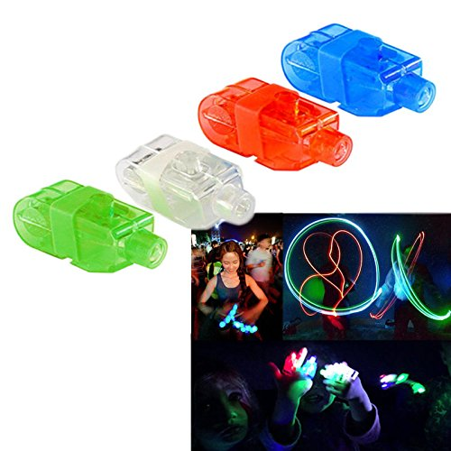 Dazzling Toys LED Bright Finger Flashlights - LED Finger Beam - Maga Pack of 40 Lights in a Pack