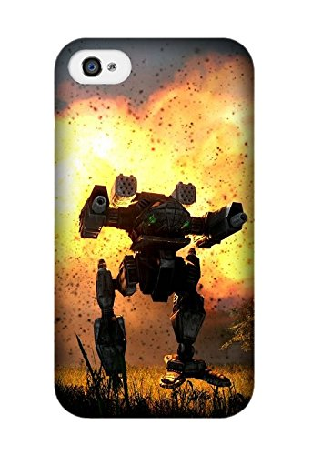 Iphone 4/4S Protective Case , Full Protective unique Stylish Case slim durable Game MechWarrior Iphone 4/4S TPU Cases Cover