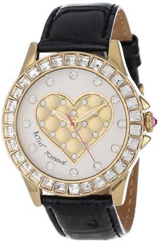 Betsey Johnson Women's BJ00222-02 Analog 3D Puffy Heart Dial Watch