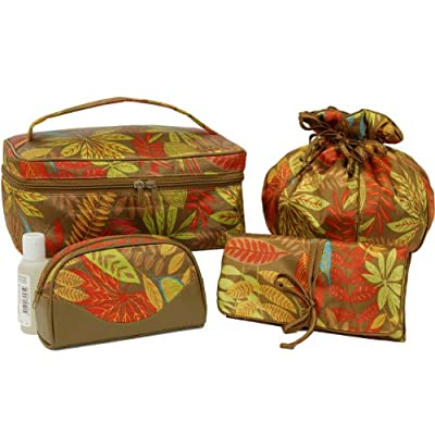 Best Cheap Deal for Bucasi Tropical Cosmetic Case Travel Bag Organizer 4 Piece Set from Bucasi - Free 2 Day Shipping Available