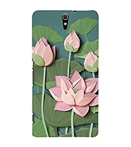 Lotus Vector Clipart 3D Hard Polycarbonate Designer Back Case Cover for Sony Xperia C5 Ultra Dual :: Sony Xperia C5 E5553 E5506 :: Sony Xperia C5 Ultra