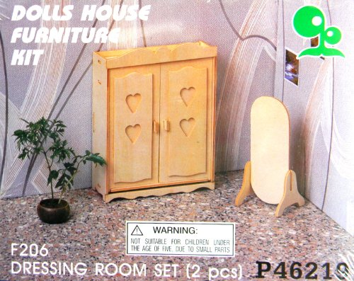 Dolls House Furniture Kit Dressing Room Set 2 Pcs