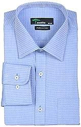 SWATHE Men's Formal Shirt (5949-1-40, Blue)
