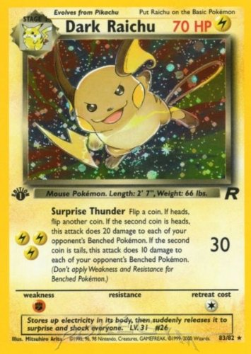 Dark Raichu - Team Rocket - 83 [Toy] - 1