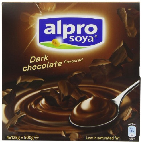 Alpro Dark Chocolate Dessert 4 x 125 g (Pack of 6)