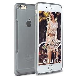 iPhone 6s plus Case,iPhone 6 plus Case,[2PCS HD Screen Protectors]by Ailun,Toughened Frame Bumper,Matte Soft Anti-Scratch&Fingerprint&Shock Transparent Clear Back cover,Siania Retail Package[Black]