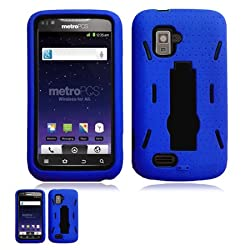 ZTE Anthem 4G N910 Blue And Black Hardcore Kickstand Case