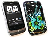 FLASH SUPERSTORE HTC WILDFIRE GREEN BOUQUET SUPER SLIM CLIP ON PROTECTION CASE/COVER/SKIN