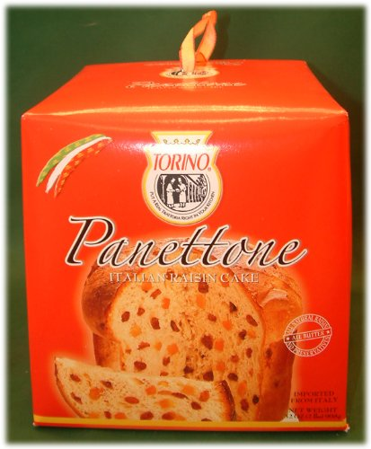 Torino Panettone 2 Pound Italian Raisin Cake Christmas Holiday Gift Box