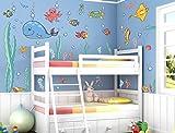 """I-love-Wandtattoo WAS-10003 Wandsticker Kinderzimmer """"Unterwasserwelt"""" Sticker Aufkleber Wandtattoo Wandaufkleber"""
