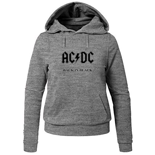 AC/DC Back In Black For Ladies Womens Hoodies Sweatshirts Pullover Outlet