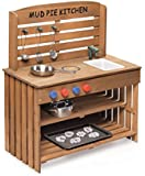 Badger Basket Outdoor Chef Mud Pie Kitchen with Cooking Accessories, Natural