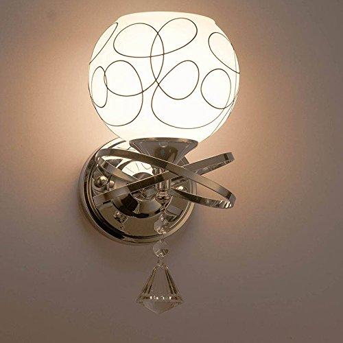 SOLMORE Nuovo Applique da parete teste moderno lampada da parete cristallo E27 lampada da comodino per Camera da letto, Sala, Salotto