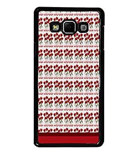 PrintDhaba Heart Pattern D-1664 Back Case Cover for SAMSUNG GALAXY A8 (Multi-Coloured)