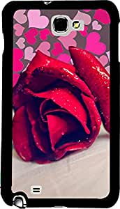 PrintVisa 2D-SGN2-D7766 Girly Rose Cute Case Cover for Samsung Galaxy Note 2