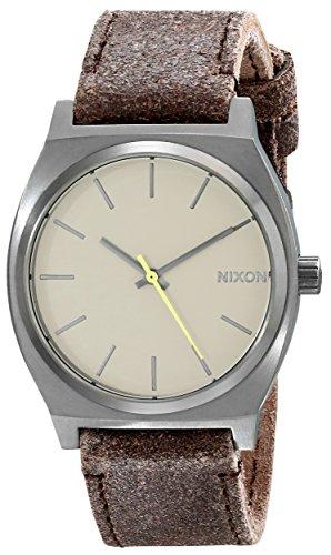 Nixon Homme Time Teller Montre Analogique, Color: Gunmetal / Marron