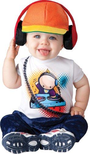 InCharacter Baby Boy's Beats DJ Costume, White/Orange, X-Small
