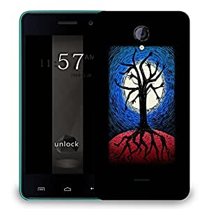 Snoogg Tree With Hands And Legs Designer Protective Back Case Cover For MICROMAX UNITE 2