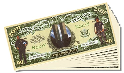9-11 (Sept 11) 10 Year Anniversary Bill - 25 Count with Bonus Clear Protector & Christopher Columbus Bill