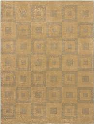 eCarpetGallery Handmade Mod Elegance 9-Feet 0-Inch by 12-Feet 0-Inch Wool Rug, Gray, Light Dull Yellow
