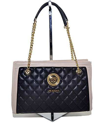 Love Moschino Quilted Shopping Bag Black/Ivory thumbnail