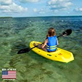 Youth Wave Kayak (Paddle & Soft Backrest) Color: Yellow
